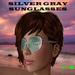 Sun Glasses SILVER GRAY