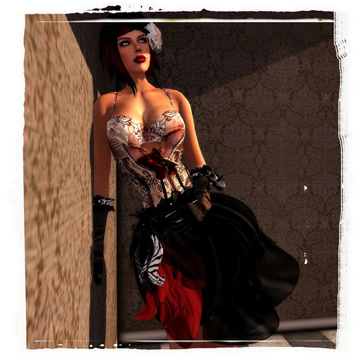 ALB BABETTE lingerie dress + hat + heel & clothes applier to SLink & Maitreya bodies by AnaLee Balut