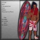 ::Evaki:: Summer's Dream Board Shorts & Board Tye Dye Red