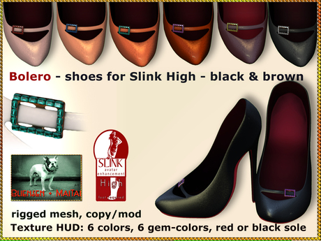 Bliensen + MaiTai - Bolero - Shoes for Slink High Feet - Black & Brown