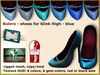 Bliensen + MaiTai - Bolero - Shoes for Slink High Feet - Blue