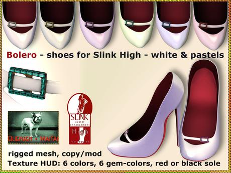 Bliensen + MaiTai - Bolero - Shoes for Slink High Feet - white & pastels