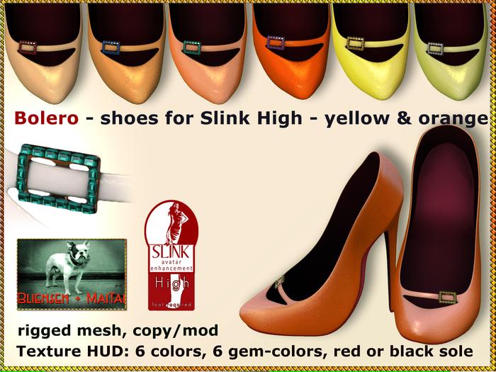 Bliensen + MaiTai - Bolero - Shoes for Slink High Feet - yellow & orange