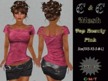 *clothes MESH woman Top Beauty (Pink)*