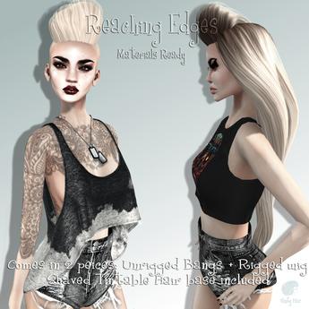 Vanity Hair::Reaching Edges-Light Blonds(MESH)