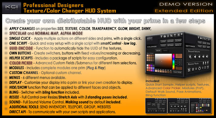DEMO Professional Color Picker & Texture Change HUD System