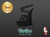 [ Vertice ] Black Leather - (SLINK) Wedge Sandals ! PROMO !