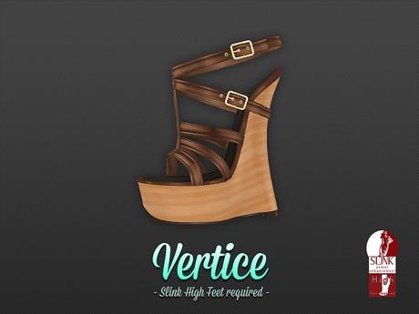 [ Vertice ] Mocha Wood - (SLINK) Wedge Sandals