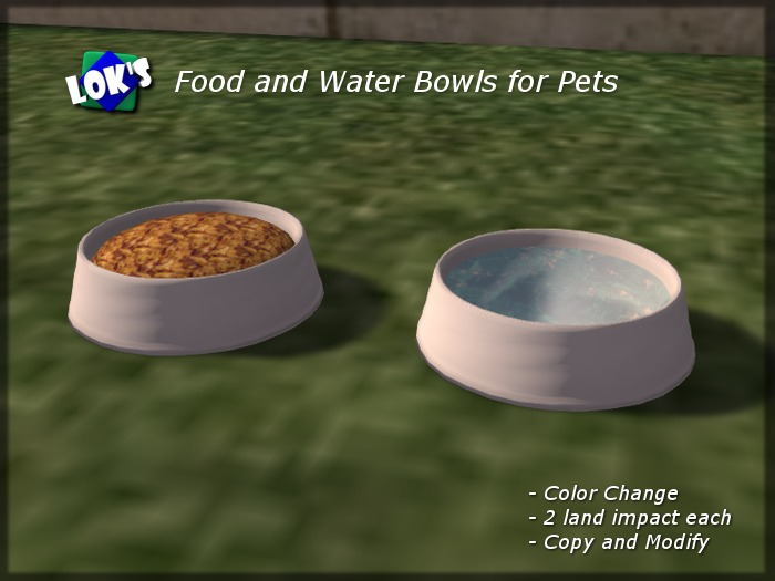 Lok's Food and Water Bowls for Pets with Color Change