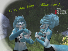 Furry-Fox baby. Blue two versions