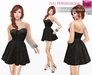 %50SUMMERSALE Full Perm Fitmesh and Rigged Mesh Strapless Little Black Dress