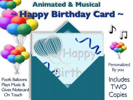 Astonishing Second Life Marketplace Two Animated Musical Happy Birthday Personalised Birthday Cards Rectzonderlifede