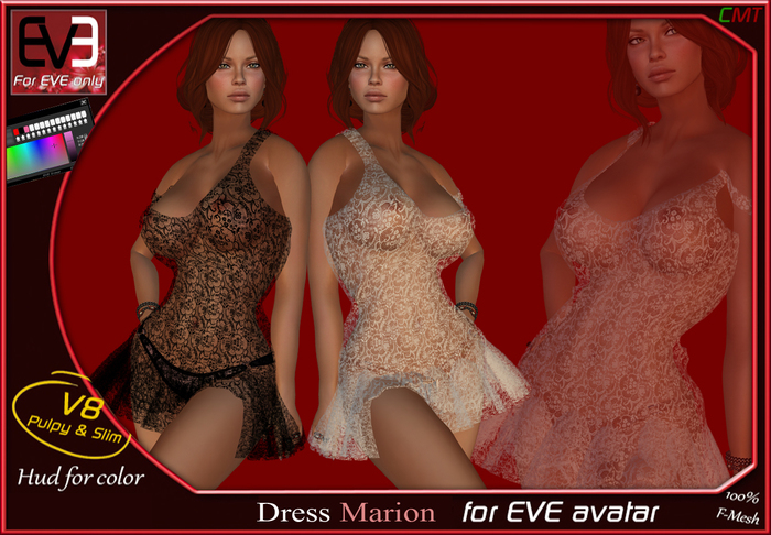 """*!* EVE Marion Dress """"for all version Pulpy & Slim """""""