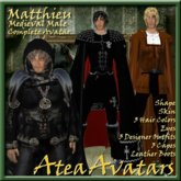 Matthieu Medieval Male Avatar