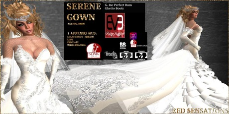 Second Life Marketplace Zed Sensations Serene Wedding Gown