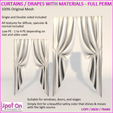 Spot On Curtains Drapes with Materials - Full Perm Mesh