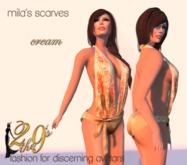 .:: 2 the 9's ::. Mila's Scarves - Cream