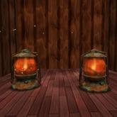 Vintage Oil Lamp. Mesh.