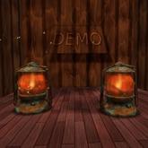 Vintage Oil Lamp. Mesh. DEMO