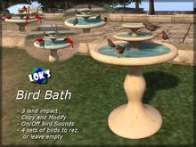 Lok's Bird Bath with Rezzing Birds and Sound