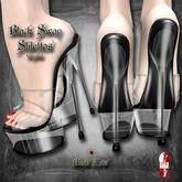 ~Black Arts~Black Swan Stilettos Crystal for Slink High Feet