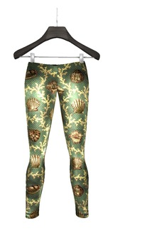TRAPHOUSE COLLECTIVE - Girls Leggins Green