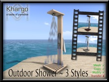 khargo outdoor shower - boxed