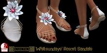 Eclectica 'Whitsundays' Resort Sandals-white