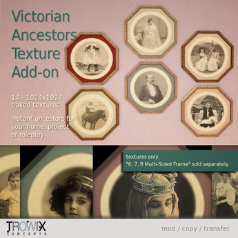 Trowix - Victorian Ancestors Texture Add-on