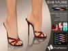 :)(: Eva mules - 28colors - slink high feet - Gaeline tip toe - EVE Avatar mesh
