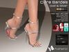 :)(: Clara Sandals - Gold & Silver - slink high feet - Gaeline tip toe - EVE Avatar mesh