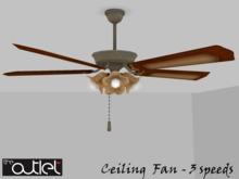 Outlet*-* Adnan Ceiling Fan (rotates - no light)