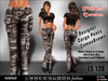 Immerschoen Girl - MESH Cargo Pants 'CamouBrown' DEMO