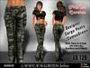 Girl   mesh cargo pants 'camougreen'