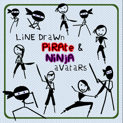 LiNe DraWn: Ninja and Pirate Pack