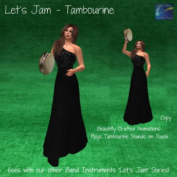 Lets Jam - Tambourine (Bagged) Animated with sound and movement