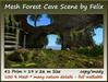 Mesh Forest Cave Scene 41 prim=26x19m Size copy/mody