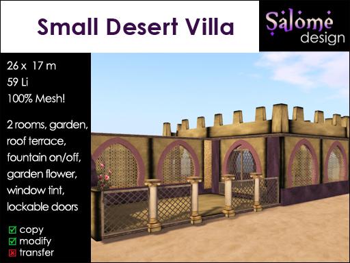 Small Desert Villa *** new Resident friendly *** for small parcels
