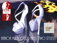 [IF] DEMO Ainhoa Multicolor Heels for Slink High Feet (Two styles!!)