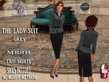 LC DESIGNS - THE LADY SUIT W/HIGH SLINK SHOES - GREY