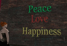Peace, Love, Happiness Wall Art (boxed)
