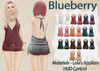 Blueberry lisq ruched tied rompers