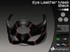 :)(: Eye Leather Mask - Black v1.0   / Unisex Mask