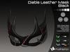 :)(: Diable Leather Mask - Black v1.0 / Unisex Mask