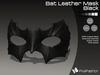 :)(: Bat Leather Mask - Black v1.0   / Unisex Mask