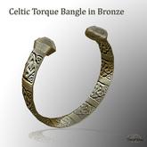 Celtic Torque Bangle in Bronze