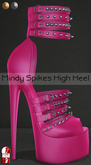 Bens Boutique - Mindy Spikes High Heel (slinkhighfeet) Pink
