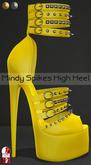 Bens Boutique - Mindy Spikes High Heel (slinkhighfeet) Yellow