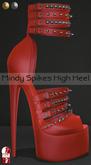 Bens Boutique - Mindy Spikes High Heel (slinkhighfeet) Salmon