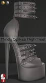 Bens Boutique - Mindy Spikes High Heel (slinkhighfeet) Gray